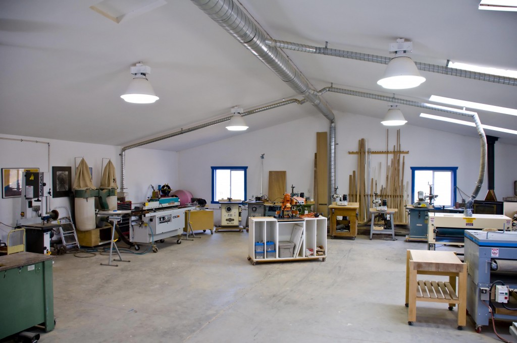 Donald Accomando has a shop to die for! It's over 4,000 sq. ft. with a high ceiling, and it's packed with top-of-the-line woodworking machinery that gives him excellent results and high maximum working efficiency. His sander? A Woodmaster Drum Sander, of course.