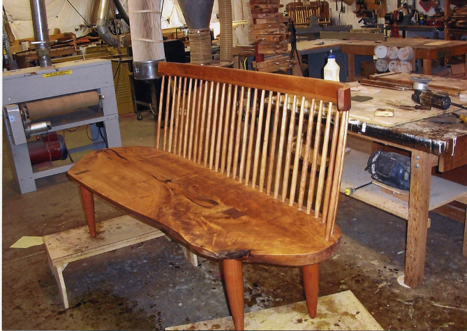 Frey, George Nakashima Bench, Cherry