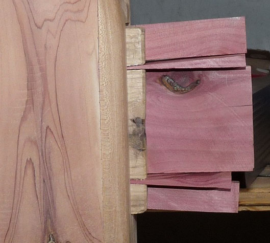 When finished, Jerry's wedged tenon joints are tight as a drum.