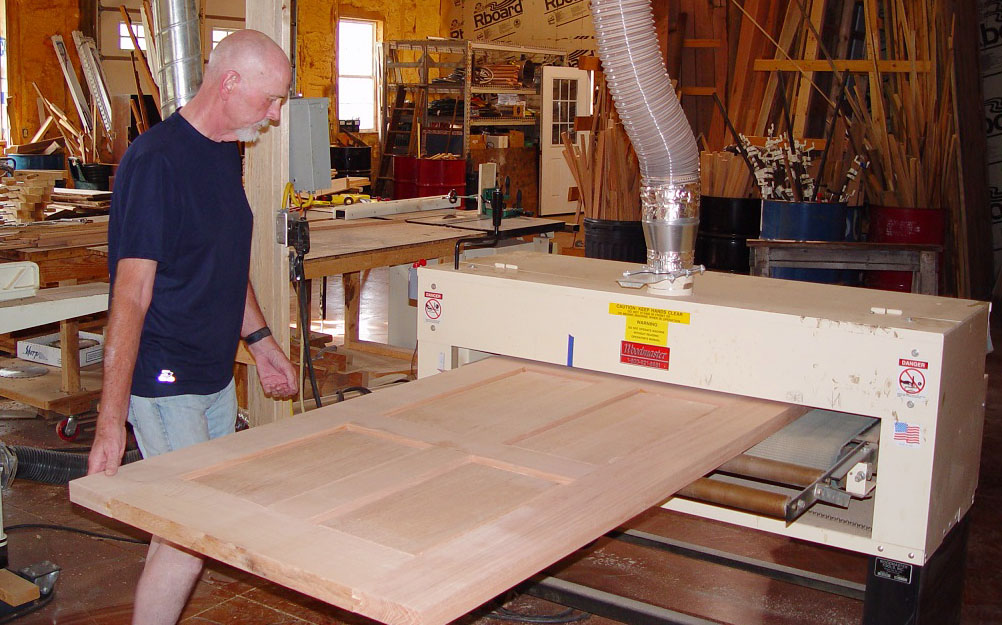 "Charles McCullough made 76 full size doors with his 50"" Woodmaster Drum Sander"