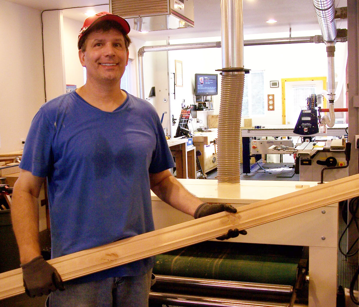 Rick and his Woodmaster Drum Sander