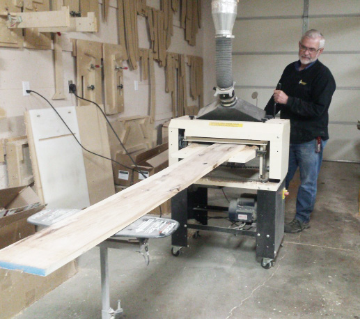 Mr. Miller's got a Woodmaster Molder/Planer, too. But that's another story, for another post on the Woodmaster Planer blog!