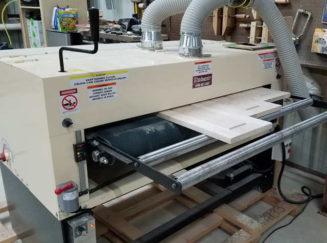 "Can you say, ""Wow, that's a big drum sander!"" You're right, it's a 50"" wide Woodmaster Drum Sander. And it's got twin drums under the hood."
