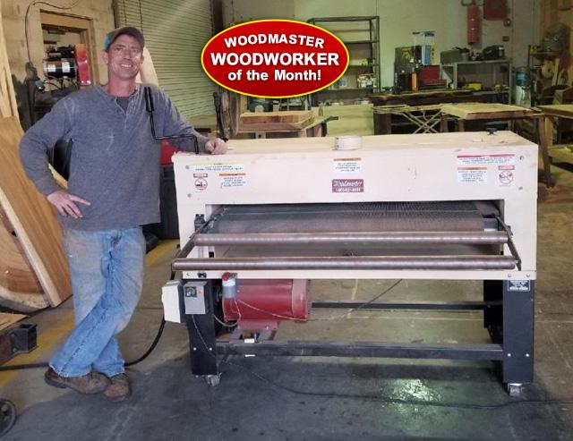 "Meet Joshua White, 50"" Woodmaster Drum Sander owner and architectural salvage entrepreneur."