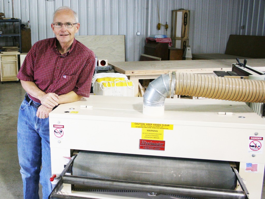 "Keith Neer, master craftsman and Woodmaster Drum Sander owner, teaches woodworking and produces a limited number of furniture commissions for the pure love of woodworking. He told us recently, ""I'm retired. I'm not in this to make money. It's a pleasure to do woodworking the way I want to at the end of a 30-year career."""