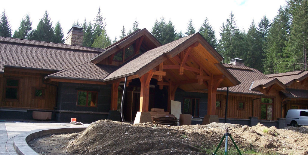 Rick's home is coming along nicely thanks to his hard work and his Woodmaster Drum Sander!