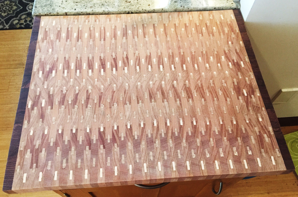 How does a woodworker go about making a cutting board with such an interesting pattern? Stuart's a Woodmaster Woodworker who'll tell you all about it!