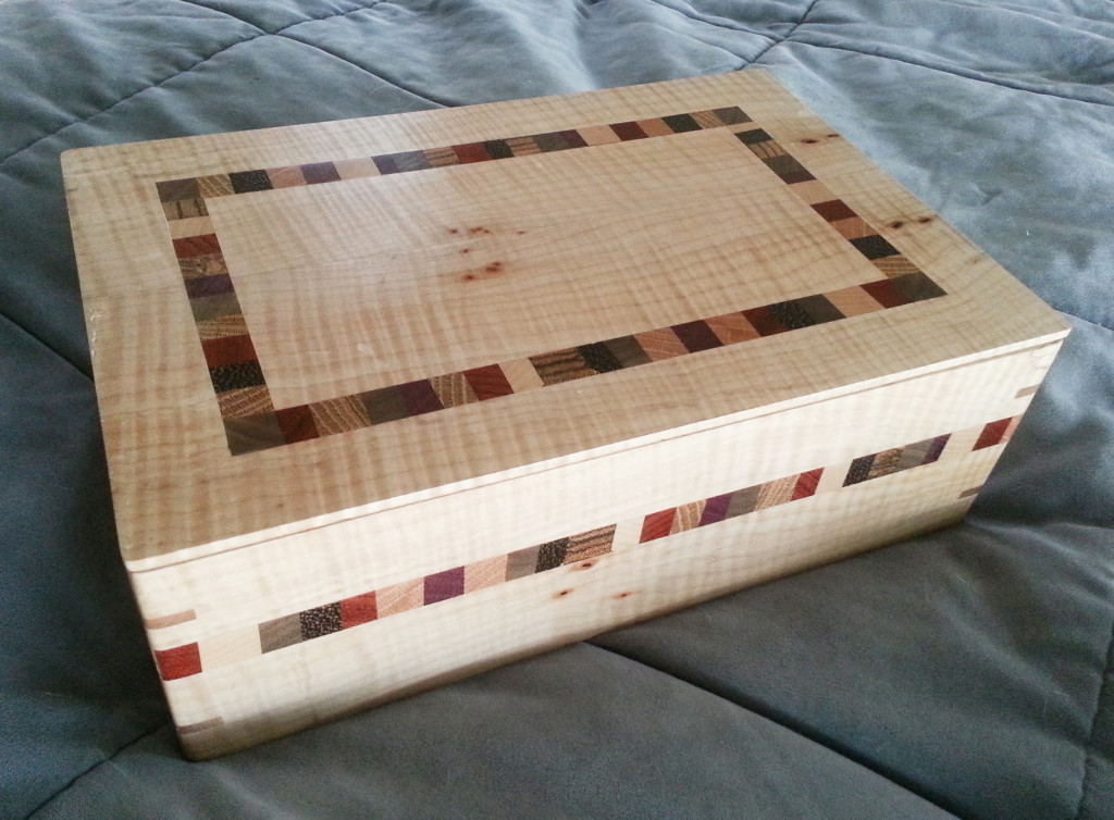 """Not """"just"""" cutting boards - Stuart makes some darned handsome inlaid boxes, too."""