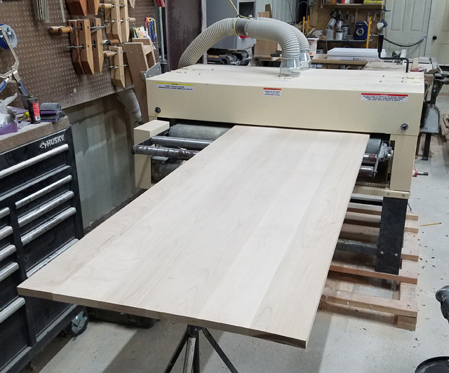 """How big is big? The Woodmaster's twin drums are 50"""" wide. Looks like Jim's panel's about 2/3 the width, or 33 or 34"""" across."""